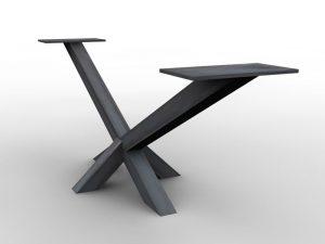 Eisentischgestell X-Form