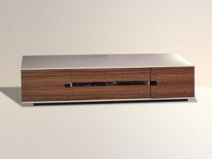 Sideboard weiss-Türen Holz