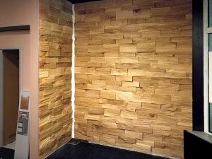 Spaltholzwand natur