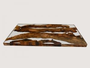 Hochglanz Epoxidharz Tischplatte aus Holz